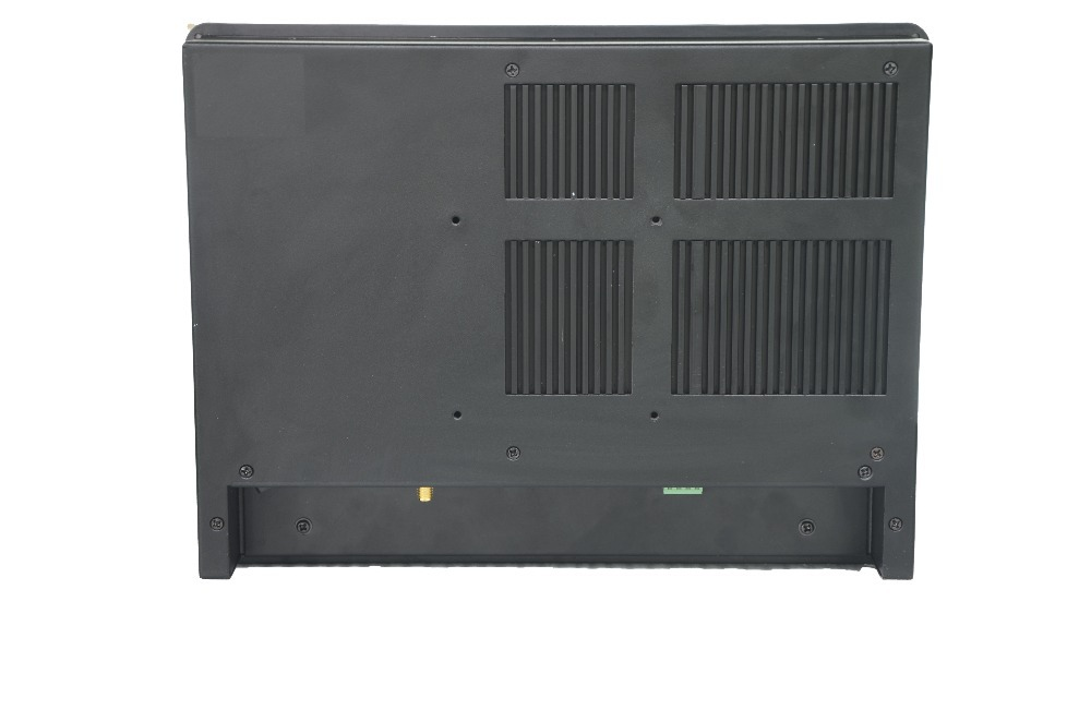 High quality fanless 10.4 inch remote control and no cable design industrial panel pc with Intel atom D2550 CPU