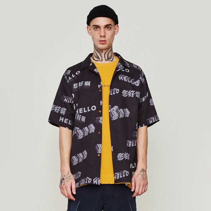 Version complète impression 3D impression numérique chemise revers chemise lâche