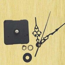 10 sets New DIY Quartz Wall Clock Movement Clock Parts Accessories Mechanism DIY Repair Parts Black + Hands 28mm shaft with hook цена