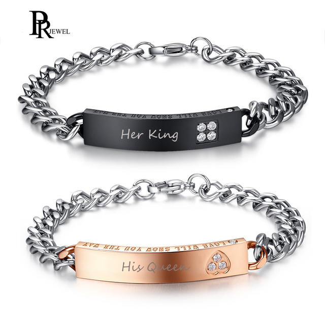 2887f57efde His and Her Matching Couple Bracelets Free Custom Engraving Stainless Steel  Anniversary Dating Love Special Gifts