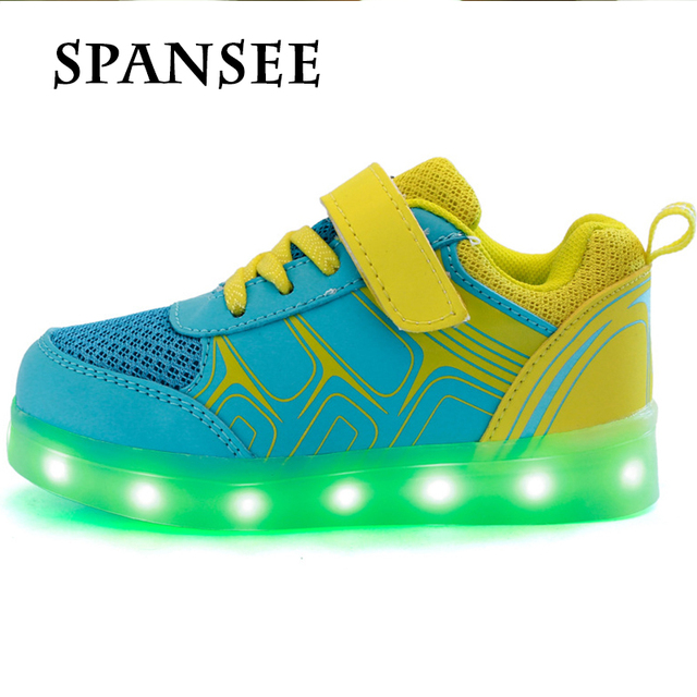 Buena QualityL LED Que Brilla Luminoso Zapatillas Tenis Zapatillas LED