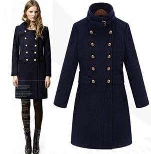 98 2019 Neue Elegante Lange Mode Mantel Doppelte Europa Breasted in Wolle Damen herbst US55 Jacke Winter Frühjahr Frauen 6OFF Dünne Navy Woolen LzqSGMUVp