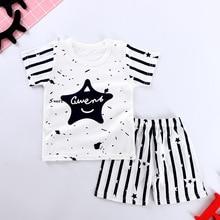 Детская одежда 2019 г. летняя футболка для малышей костюм из двух предметов хлопковая детская одежда с героями мультфильмов для маленьких мальчиков и девочек новая одежда для мальчиков