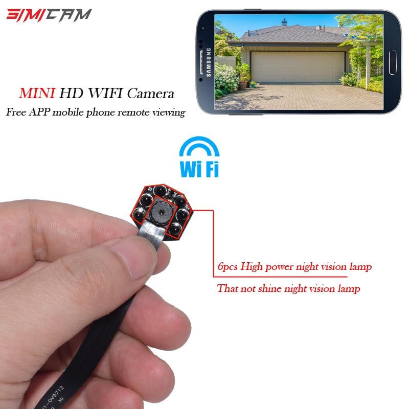 HD Mini WIFI Camera P2P Pocket Camera DIY Wireless Camera Module Mini DV Camcorder Night Vision Motion detection 100% original samsung earphones eo eg920bw with 1 2m length for galaxy s6 s7 edge s3 s4 s5 xiaomi note1 2 3 rednote 1 2 3 4