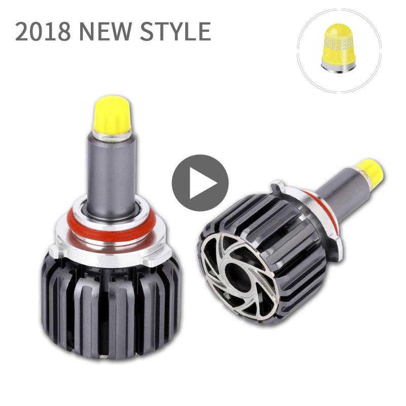 Turbo LED H7 Phare Ampoule 12 v 360 Degrés Super LED H1 H3 H8 H9 H11 9005 9006 9012 880 auto Tête Lampes Kit LED Pour Feux De Voiture