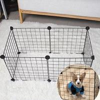 6pcs Run Cage Variety of Multi function Fence Super Load bearing Iron Cage Pets Small and Medium sized Dogs Cats Rabbits Pigs Fe
