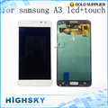 10 pçs/lote livre dhl ems new lcd test for samsung galaxy A3 A300F A3000 A300 A300X Display Com Tela de Toque Digitador Assembléia