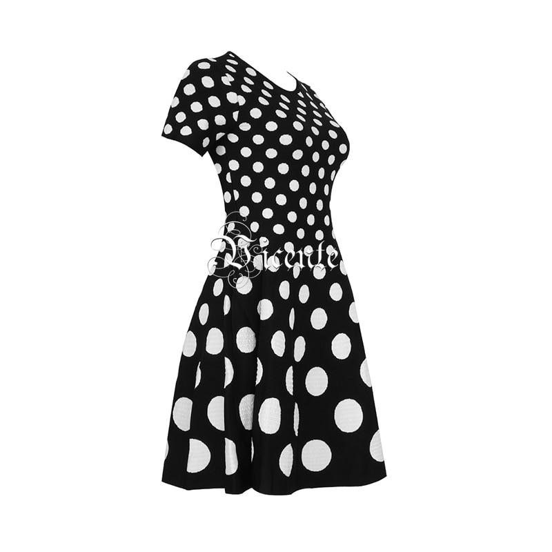 Robe Chic ligne Mini Courtes Polka Parti A Wear Jacquard Chaude Manches Dot Multi Bandage Casual Vicente Gros Hw85q1n