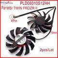 Envío gratis 2 unids/lote PLD08010S12HH DC12V 0.35A 4Pin para MSI N460GTX N560GTX TI N570GTX N580GTX doble FROZR II ventilador