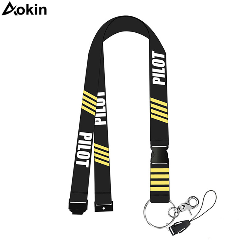 Aokin Remove Before Flight Pilot Lanyards For Keys Neck Strap Gym Key Chain ID Card Holder Hang Rope Keychain Lanyard For Phone