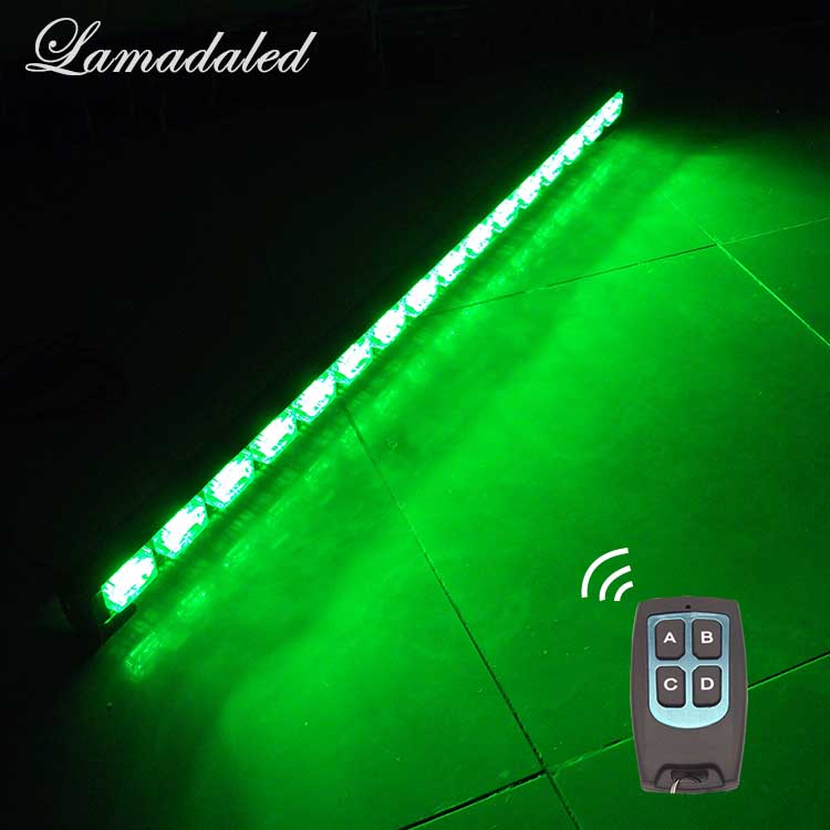Lamadaled 95cm 37 remote control led strobe light bar police vehicle warning lamp offroad car bumper flash lights traffic lamp