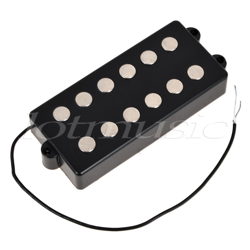Bass Pickup Humbucker Double Coil 6 String  for Musicman Bass Guitar Parts Accessories Black electric guitar pickups humbucker double coil pickup guitar parts accessories black