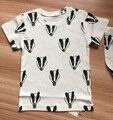 2017 New Arrival Crianças Tshirt & Calças Padrão Fox Completo Em o Pano Do Bebê Tshirt Crianças Menina Miúdo Camisa Suécia Marca Quente Cicishop