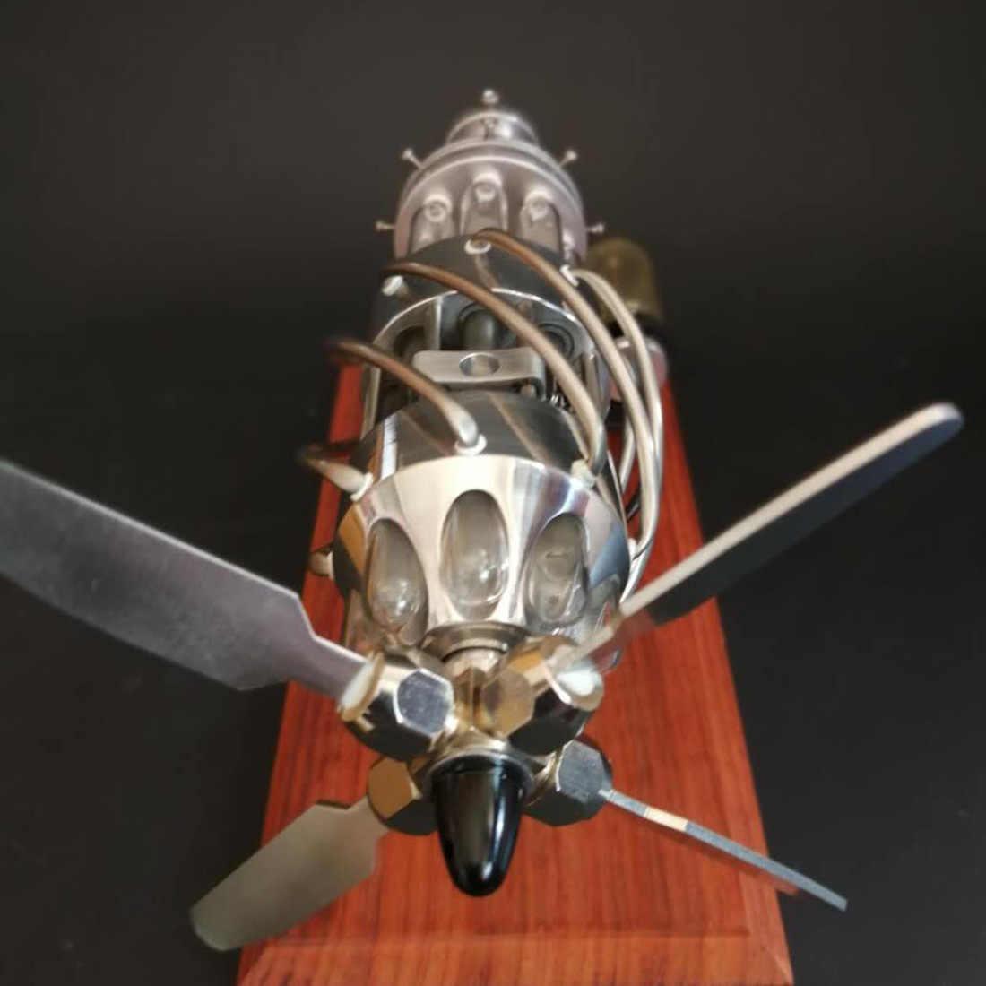 16 צילינדר צלחת לשכשך בוטאן מופעל קוורץ זכוכית חמה צילינדר מנוע סטירלינג דגם מוקדם למידה חינוך צעצועים לילדים