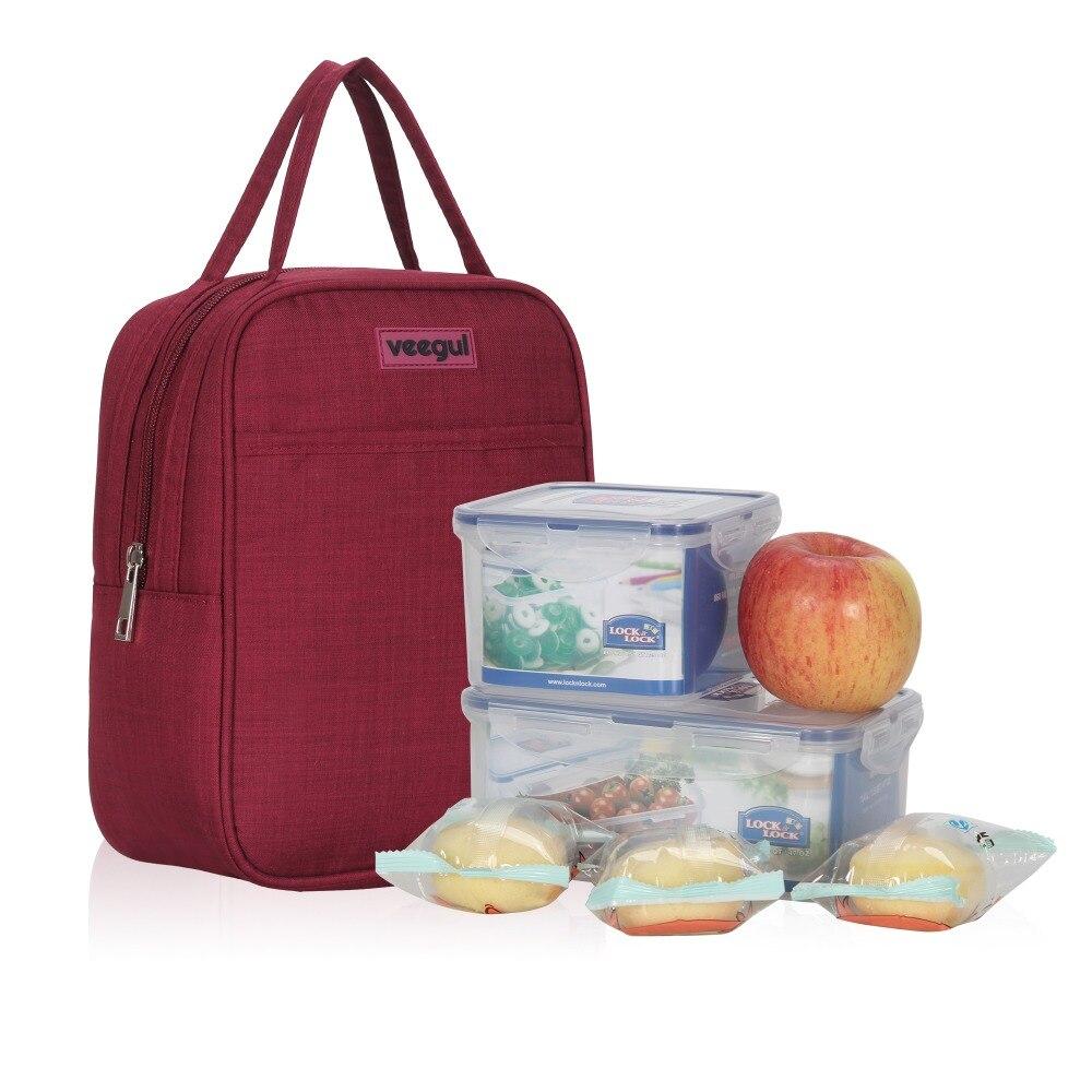 Termica para Trabalho de Escritório Bolsas de Comida ao ar Livre do Piquenique Cor da Escola dos Miúdos Mulheres Almoço Bolsas Bolsa Lonchera Tote Mão Vinho Pack 4