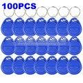 DIYSECUR 100 pcs 125 Khz RFID Proximidade ID Card Token para Tag Chaves Keyfobs para o Sistema de Controle de Acesso