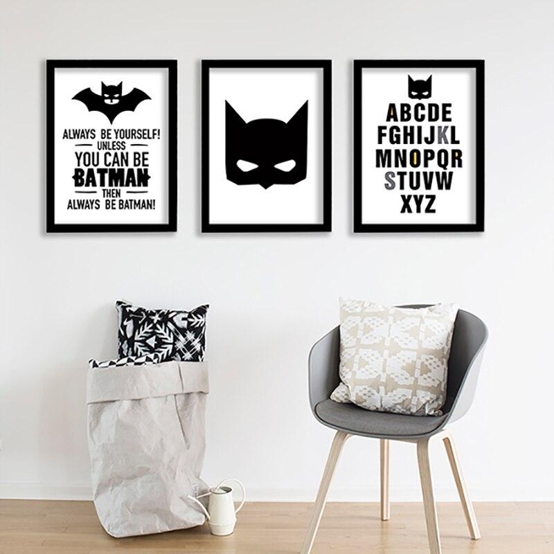 Living Room Art Printables: Nordic Posters And Prints Wall Art Batman Kids Room Art