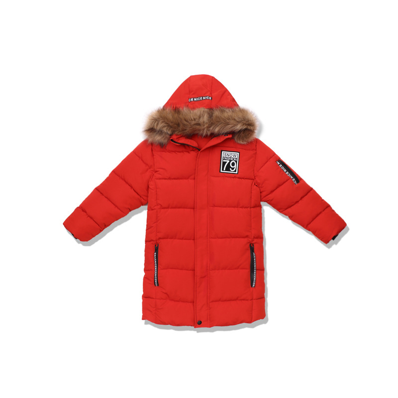 Image 5 - Winter Thicken Windproof Warm Kids Coat Waterproof Children Outerwear Cotton Filler Heavyweight Boys Jackets For 4 14 Years Old-in Down & Parkas from Mother & Kids