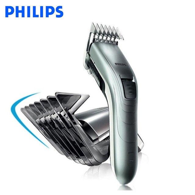 Philips Wiederaufladbare Elektrische Haar Clipper für Männer Haar Trimmer Haarschneider 11 speed Länge Einstellung Unterstützung Plug spielen QC5130 /15|Haarschneidemaschinen|Haushaltsgeräte -