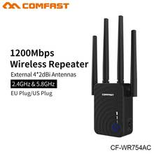 Comfast CF-WR754AC 1200Mbps Home Wireless Router Wifi 4*2dbi  Repeater 5Ghz Long Wifi Range Extender Booster  Antenna Amplifier цена