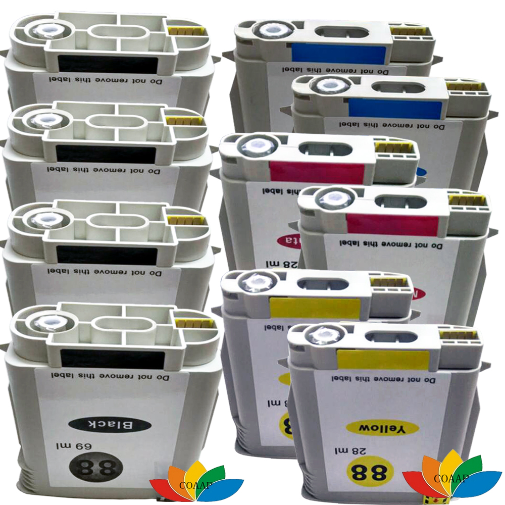 10 kompatibel hp 88 tintenpatronen für hp88 hp officejet pro k5400 k5400dn...