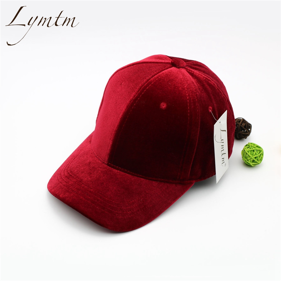 [Lymtm] 2018 Summer Bright Velvet Wine Red Baseball Cap Autumn Fashion Hip Hop Flat Snapback Hat Adjustable Casquette Bone Caps lady s skullies womail delicate pregnant mothers soft velvet cap maternal prevention wind hat w7