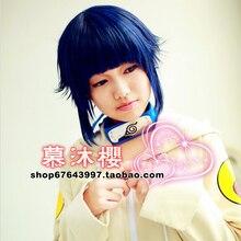 Venta caliente Cosplay Peluca Uzumaki Naruto Hinata Hyuga Azul Mix Negro Corto Cosplay Peluca A Prueba de Calor