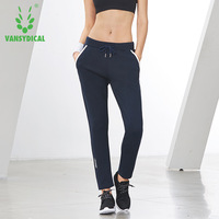 Women Running Pants With Pockets Fitness Gym Workout Training Sport Trousers Drawstring Waist Jogging Pants Loose Sportswear