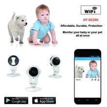 Бесплатная доставка Homtrol Ребенок Камерой 1MP 720 P двусторонняя аудио H.264 крытый Ик IP Cube Камера Поддержка TF карта и Облако технологии