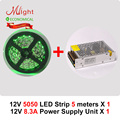 5 meters 12V LED Strip & 100W Power Supply Three Crystals 5050 PSU Kit