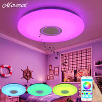 Música led luzes de teto rgb app e controle remoto lâmpada do teto quarto 25 w 36 52 sala estar luz lampara de techo