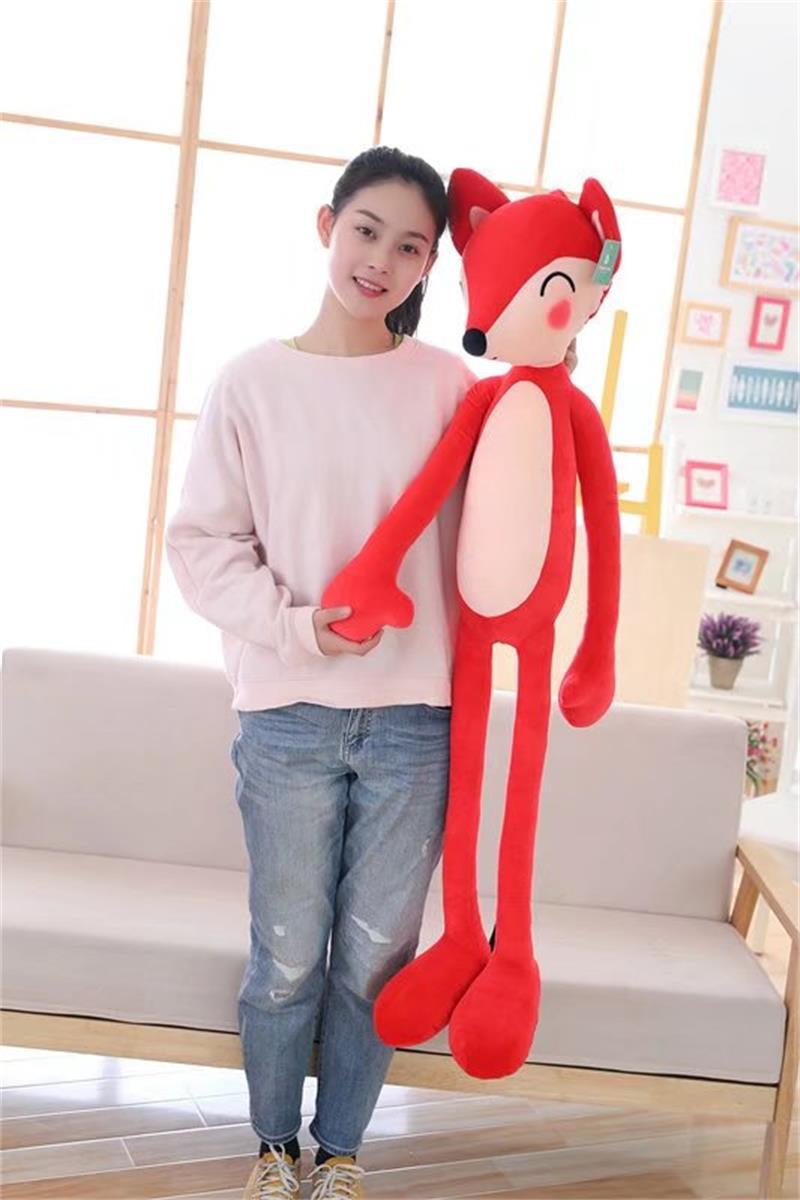 big plush red fox toy stuffed long beauty fox pillow doll gift about 120cm