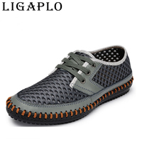 New 2014 Hollow Out Breathable Cowhide Summer Genuine Leather High Quality Fashion Shoes Men Sneakers Male
