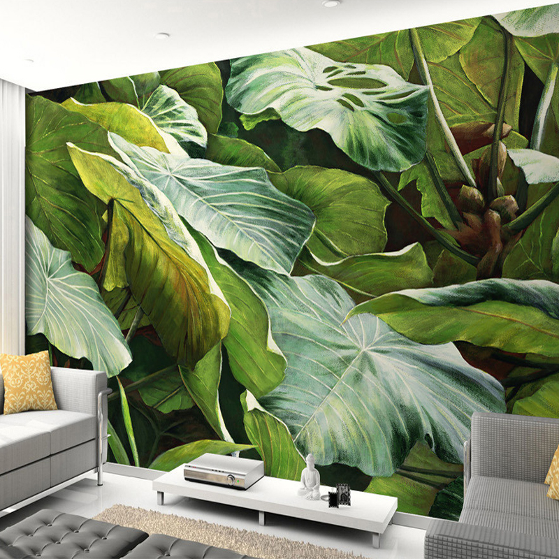 Beibehang custom mural wallpaper southeast asian tropical for Asian mural wallpaper