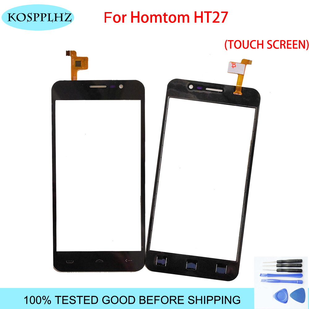 Black 5.5 inch front outer glass For <font><b>homtom</b></font> ht27 Touch Screen Touch Panel Lens Replacement <font><b>ht</b></font> <font><b>27</b></font> + Tools image