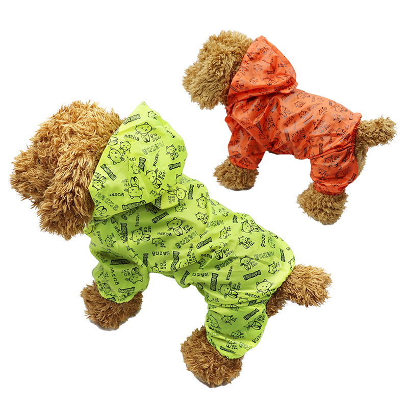 Waterproof Pet Dog Raincoat For Small Dog Summer Dog Clothing Pet Clothes Raining Dog Rain Coat Outdoor Costumes