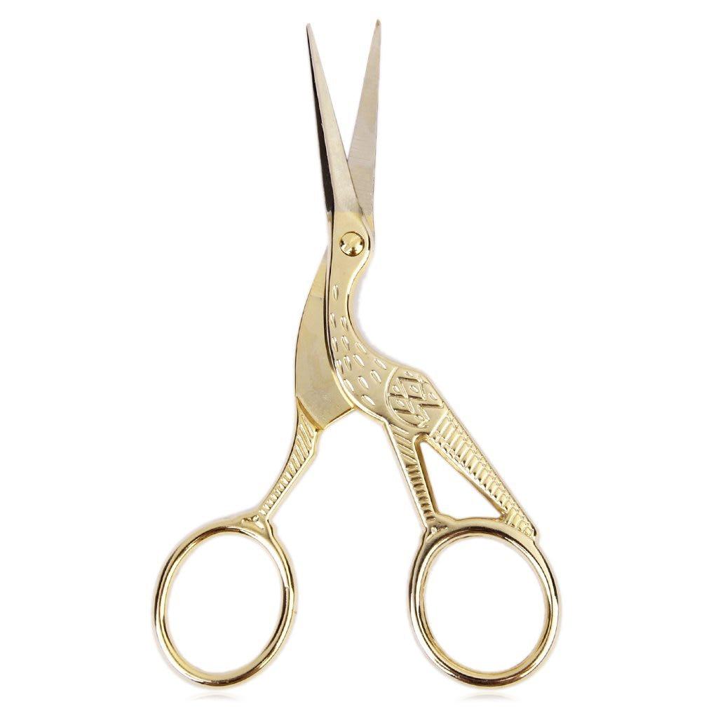 Affordable Retro Crane Sewing Scissors 11.5 Cm Golden