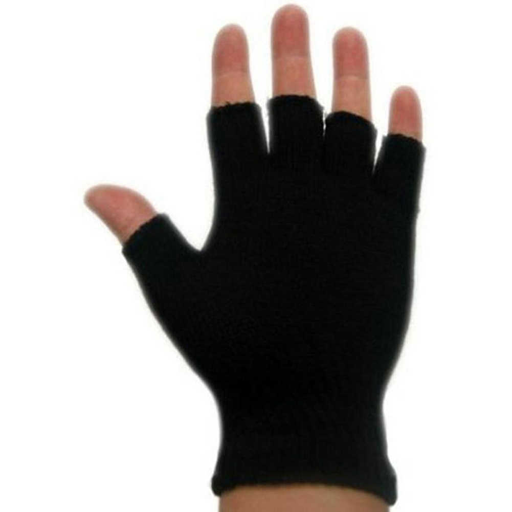 Fashion Unisex Adults Half Finger Gloves Plain One