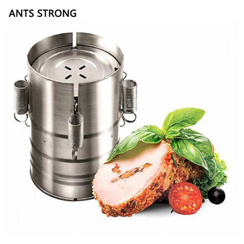 ANTS STRONG Round shape hamburger ham press maker/stainless steel burger making ham boil meat ware kitchen gadgets