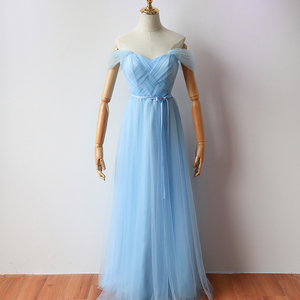 Sky Blue Floor-Length Long Party Dress  Elegant Dress Women for Wedding Party  Bridesmaid Dress