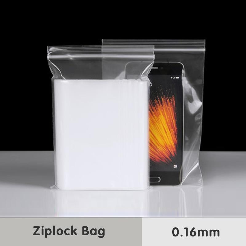 0,16mm Zip-Lock-Griff Transparente Kunststoffverpackung Beutel Lebensmittel PE Grade Snacks Süßigkeiten Backen Medizinische Selbstdichtungsspeicher