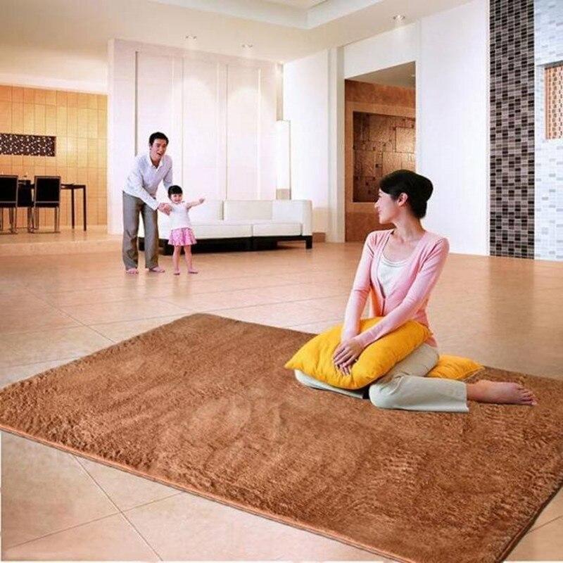 160*200 cm grande taille en peluche Shaggy tapis doux tapis antidérapants tapis de sol pour salon chambre fournitures de maison
