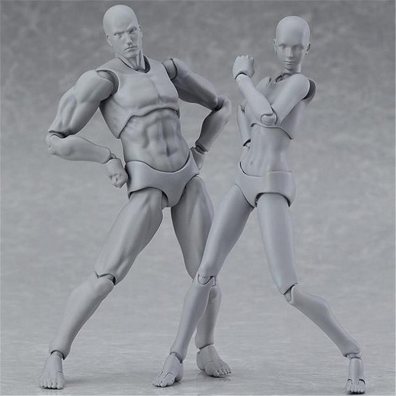 Anime Archetype Male Female Ferrite Figma Movable Body Kun Body Chan Pvc Figurine Simulation Model Toy Dolls For Collectibles archetype transparent ver she