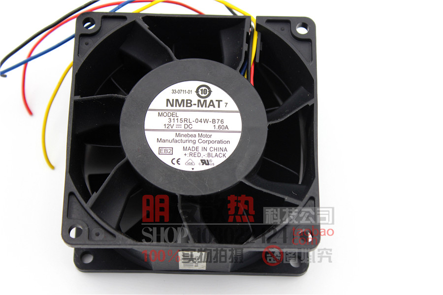 3115RL-04W-B76 Minebea NMB 8038 80mm 8cm DC 12v 1.6A 8CM winds of PWM fan speed control 80x80x38mm free delivery original v80e12bs1n5 07z04 12v 4 54a 8cm 8038 4 wire cooling fan