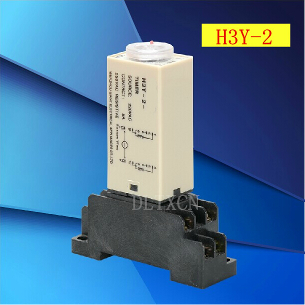 1 sets/lot H3Y-2 DC 12V Delay Timer Time Relay 0-30 Minute with H3Y-2 Base h3y 4 dc 12v delay timer time relay 0 5 min with base