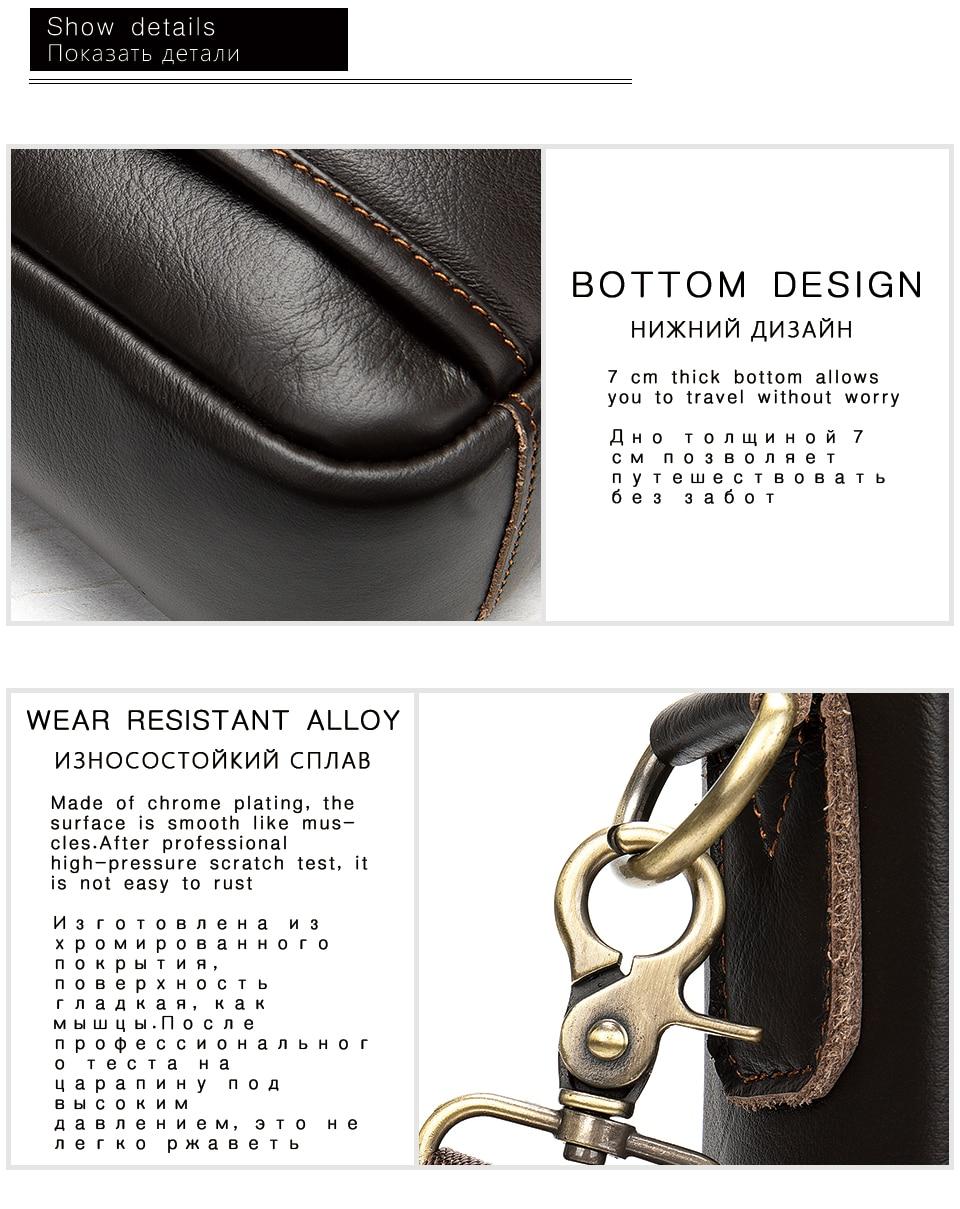 HTB1lSi9UpzqK1RjSZFvq6AB7VXa7 WESTAL briefcase messenger bag men's genuine leather 14'' laptop bag men's briefcases office business tote for document 8572