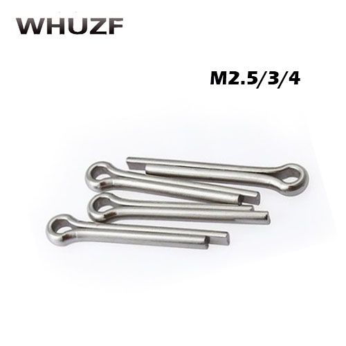 40pcs M2.5/3/4x10/12/14/16/20/25/30/35/40 304 Stainless Steel Open Elastic Pins Hairpin Cotter Pin 10mm-40mm Length