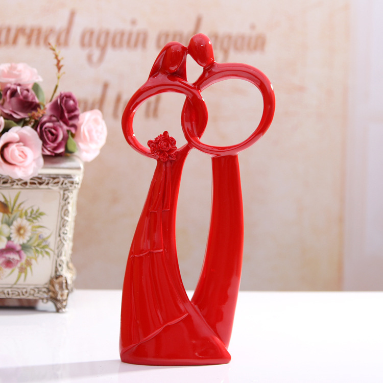 Resin Abstract Character Furnishing Articles Wedding Gifts Marriage Home Craft Gift In Figurines Miniatures From
