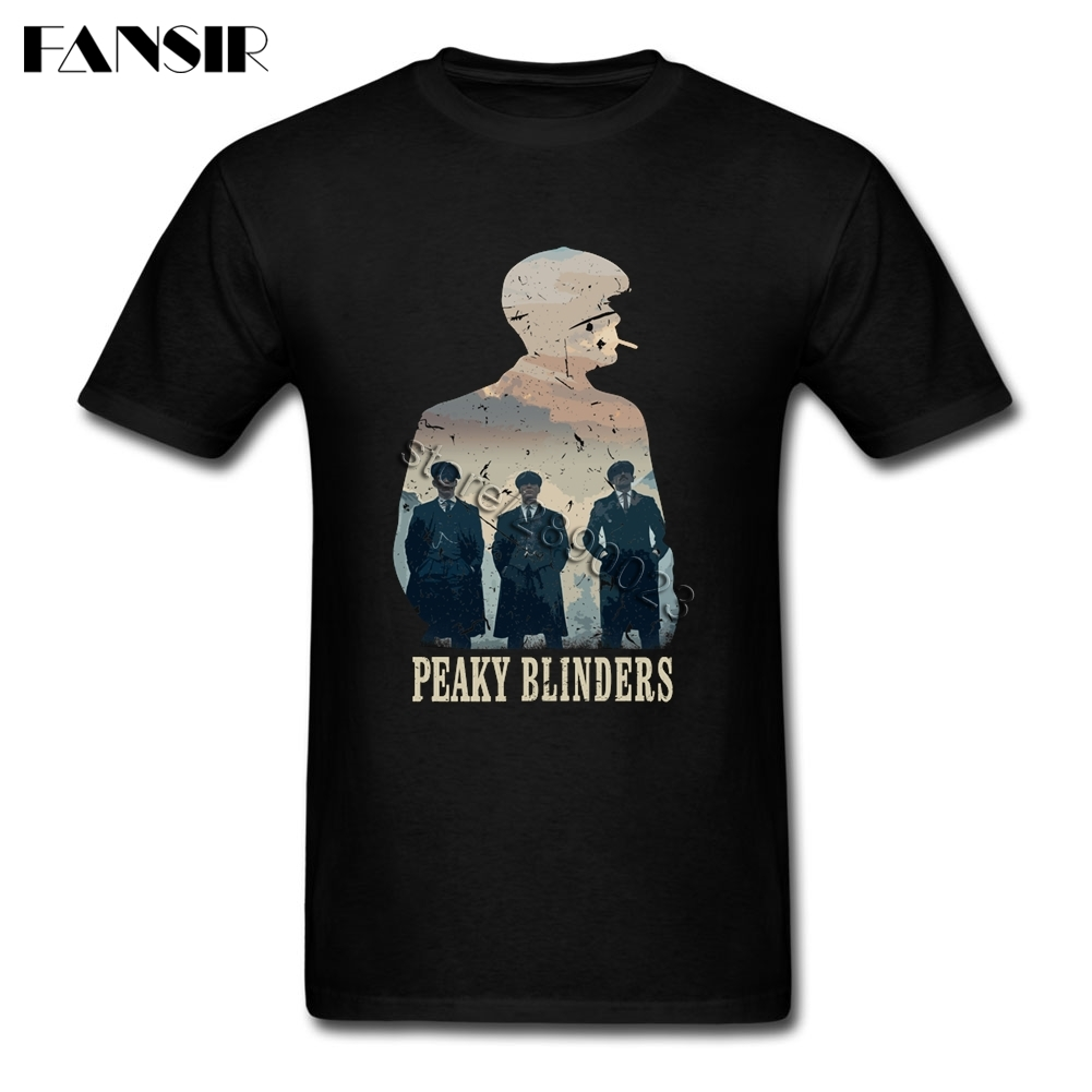 16a6022f Unique Men's T Shirt Peaky Blinders Short Sleeve Cotton Crew Neck T Shirt  For Teenage Tee