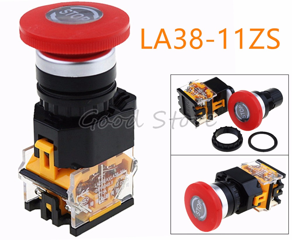 LA38-11ZS STOP Self locking emergency stop button switch